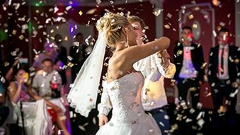 A bride dances to aswesome wedding DJ tunes